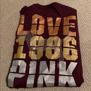 VS Pink Bling Long Sleeve Tee